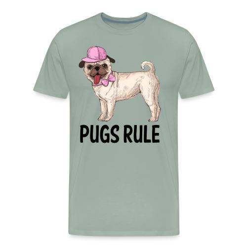 Pug Puppy Dog Cartoon Love Puppies Dogs Pugs Rule - Men's Premium T-Shirt