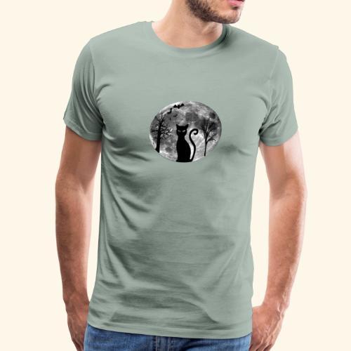 moon cat - Men's Premium T-Shirt