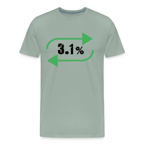 3.1% - Men's Premium T-Shirt