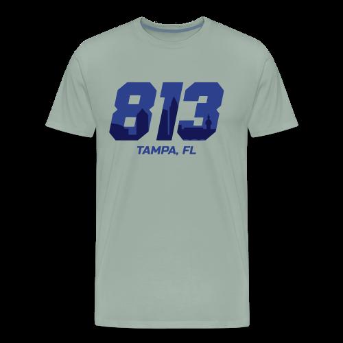 Represent 813 - Tampa Area Code Shirt - Men's Premium T-Shirt