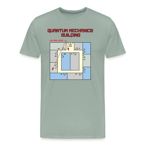 Colored Quantum Mechanics Building - Men's Premium T-Shirt