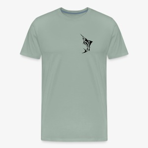 Black Marlin Logo Shirt - Men's Premium T-Shirt