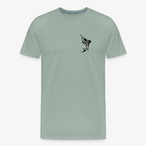 Black Marlin Logo Shirt - Men's Premium T-Shirt