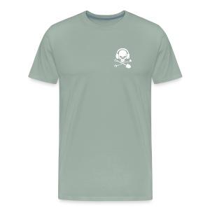 Silver Pirate Logo White LARGE TRANS - Men's Premium T-Shirt