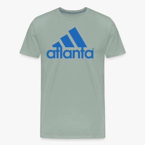 adlanta blue edges - Men's Premium T-Shirt