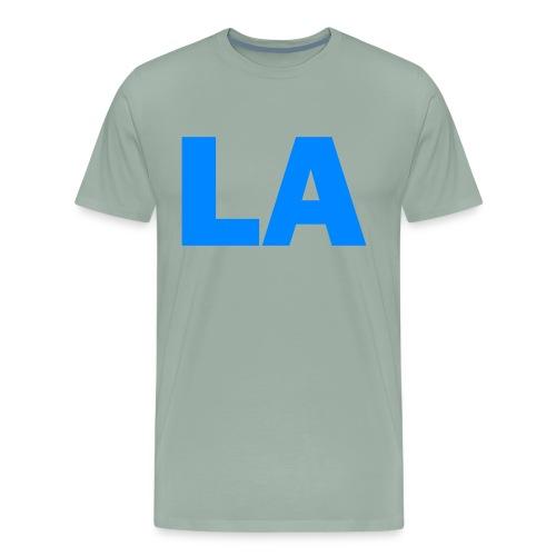 PLACE AND TIME - LA BLUE - Men's Premium T-Shirt