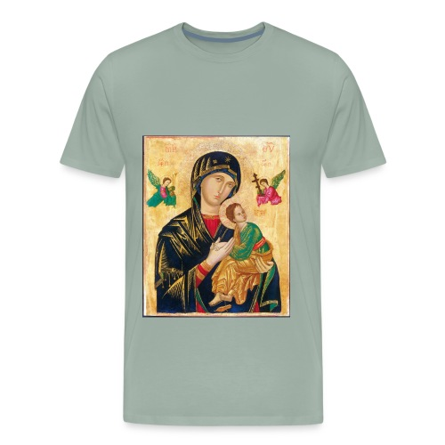 Icon of the Virgin Mary with baby Jesus - Men's Premium T-Shirt