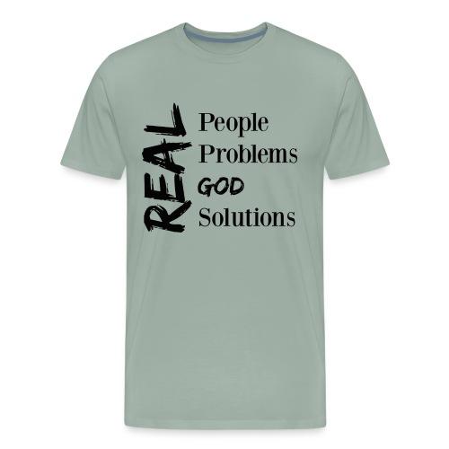 Real God (black logo) - Men's Premium T-Shirt