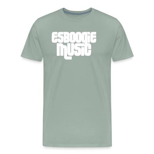 ESBOOGIEMUSIC WHITE LOGO - Men's Premium T-Shirt