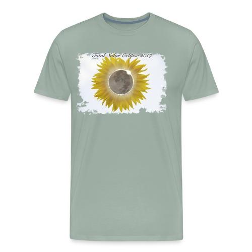 Total Sunflower Eclipse Design 1 - Men's Premium T-Shirt