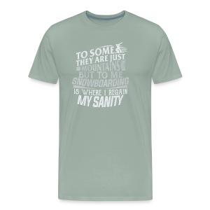 Snowboarding Hero - Men's Premium T-Shirt