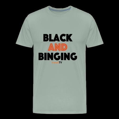 kweliTV Black & Binging - Men's Premium T-Shirt