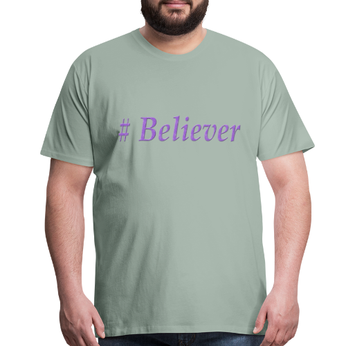 Hashtag Believer in God Cool Christian Design - Men's Premium T-Shirt