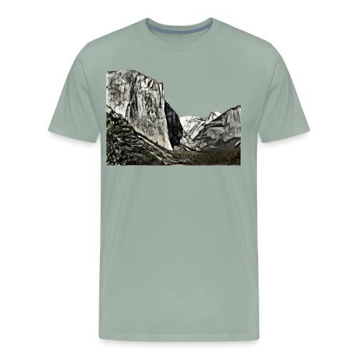 West face of El Capitan - Yosemite National Park - Men's Premium T-Shirt