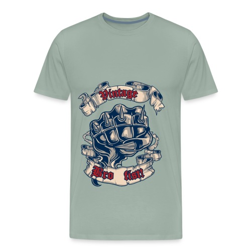 Vintage bro fist - Men's Premium T-Shirt