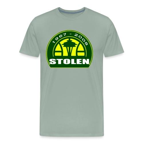 Seattle Supersonics STOLEN Shirt - Men's Premium T-Shirt