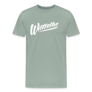Willtothe Logo White - Men's Premium T-Shirt