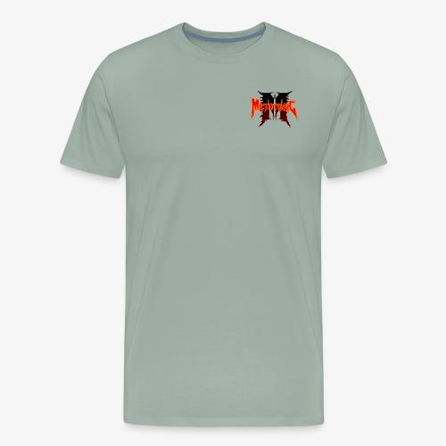 Metatoxic over Logo - Men's Premium T-Shirt