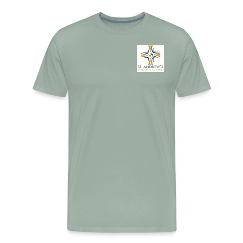 St. Andrew's small plain logo on white - Men's Premium T-Shirt
