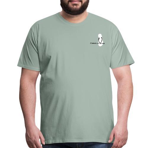 Chancla Yoga Logo 1 - Men's Premium T-Shirt