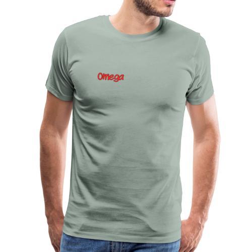 Omega Plain Logo - Men's Premium T-Shirt