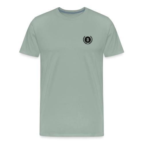 Bitcoin Money with Laurel Leaves - Men's Premium T-Shirt