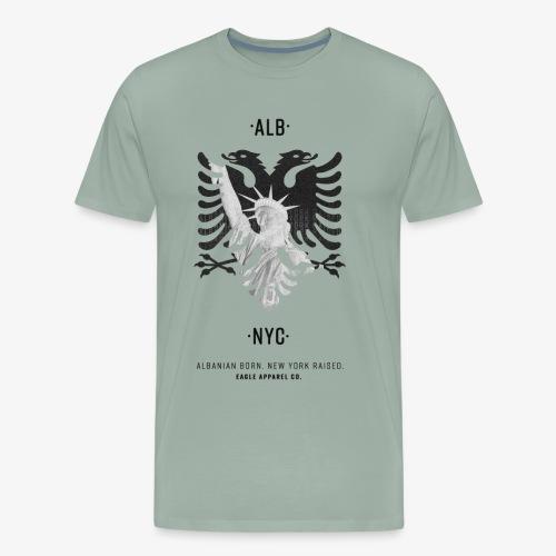 Albanian Born + New York Raised (Black) - Men's Premium T-Shirt