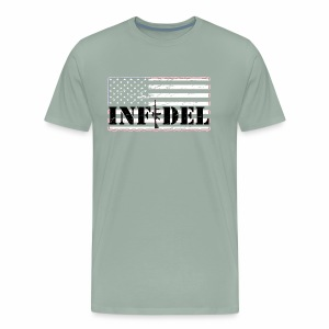 infidel distressedBW - Men's Premium T-Shirt