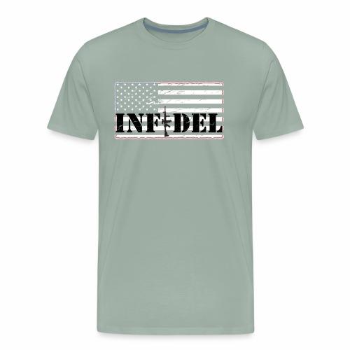 infidel distressedBW - Men's Premium T-Shirt