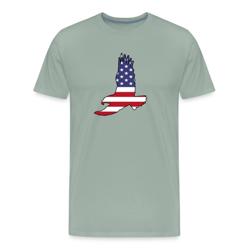 Flying Eagle With USA Flag Fill - Men's Premium T-Shirt