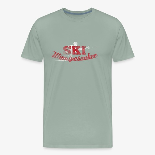 Lake Winnipesaukee Water Skiing T-Shirt - Men's Premium T-Shirt