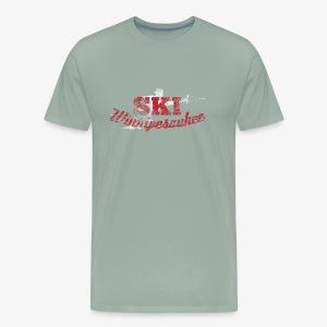 Lake Winnipesaukee Water Skiing T-Shirt - Men's Premium T-Shirt