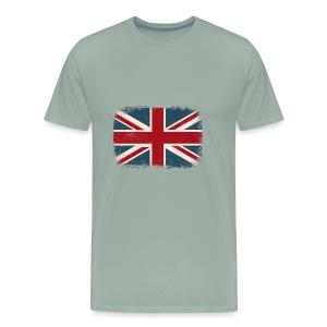 Distressed British Flag - Men's Premium T-Shirt