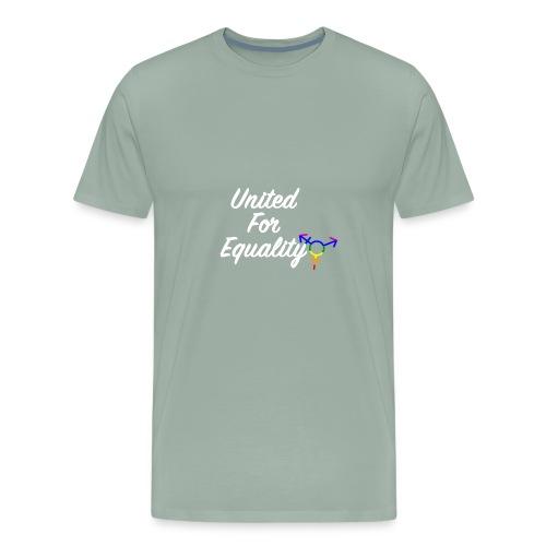 White United For Equality Logo - Men's Premium T-Shirt