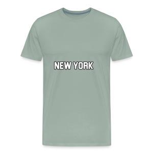 New York Yankee - White - Men's Premium T-Shirt