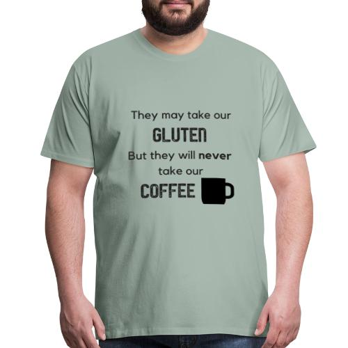 Gluten but not Coffee Block - Men's Premium T-Shirt