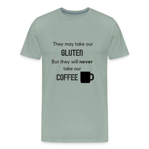 Gluten but not Coffee Block - Men's Premium T-Shirt