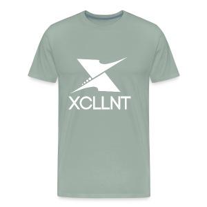 Xcllnt Logo White - Men's Premium T-Shirt