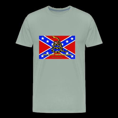 Pro-White Libertarianism Flag - Men's Premium T-Shirt