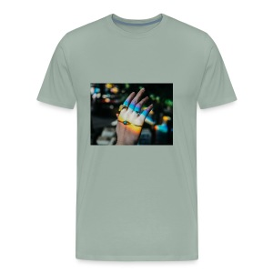 COLOR MY WORLD WITH MY HEART IN YOUR HAND X - Men's Premium T-Shirt