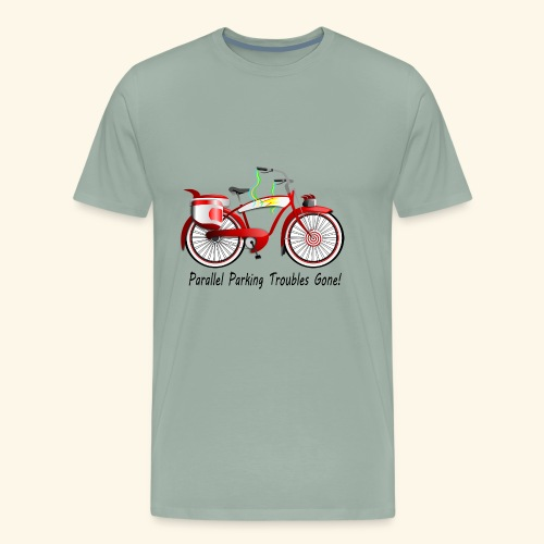 Parallel Parking Troubles Eliminated by Bicycle - Men's Premium T-Shirt
