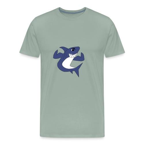 Sharky with Muscles - Men's Premium T-Shirt