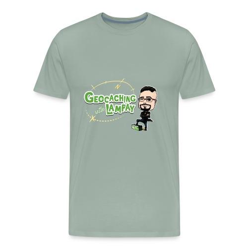 Geocaching With Lampay logo - Men's Premium T-Shirt