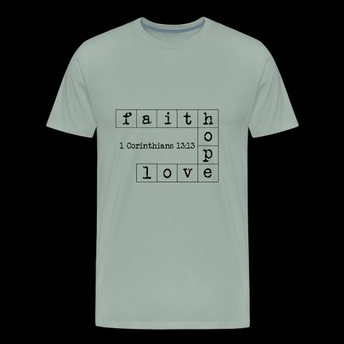 faith hope love - Men's Premium T-Shirt