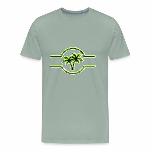 Palm Tree 3D Symbol - Men's Premium T-Shirt