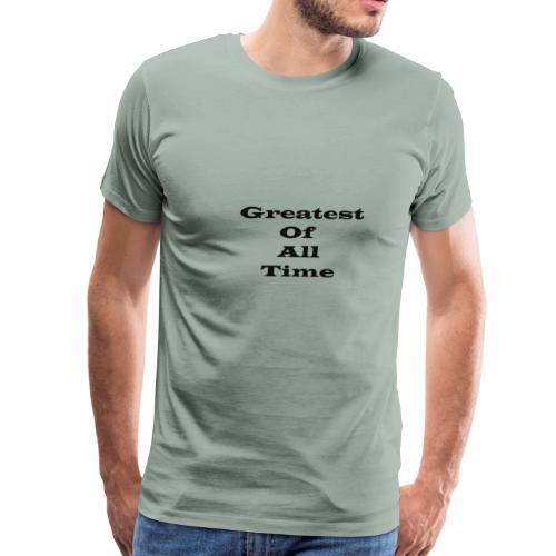 Greatest of all Time (Goat) bk - Men's Premium T-Shirt