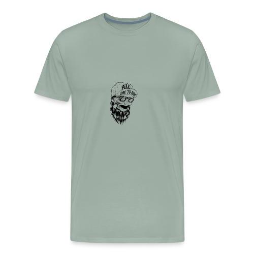 die to ride .alc black skull - Men's Premium T-Shirt