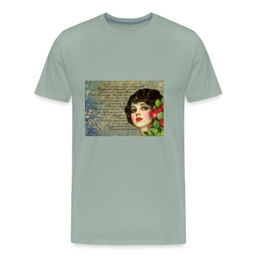Vintage 1920s Girl Art - Men's Premium T-Shirt