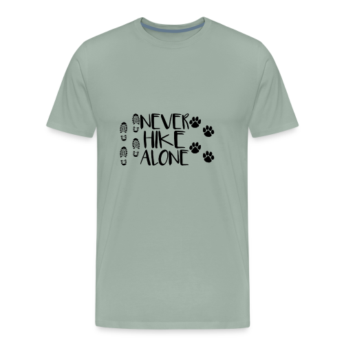 Never Hike Alone - Men's Premium T-Shirt