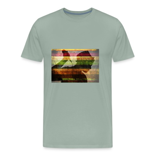 adult backlit black and white 316163 1524033594291 - Men's Premium T-Shirt